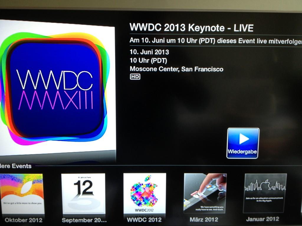 ATV 2 WWDC Livestream